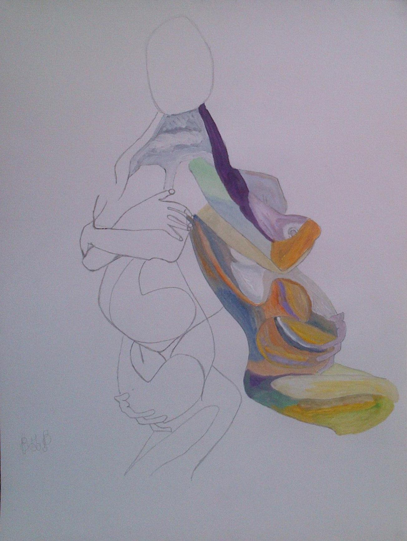 BD –Aquarelle n° 685 – Mère 1
