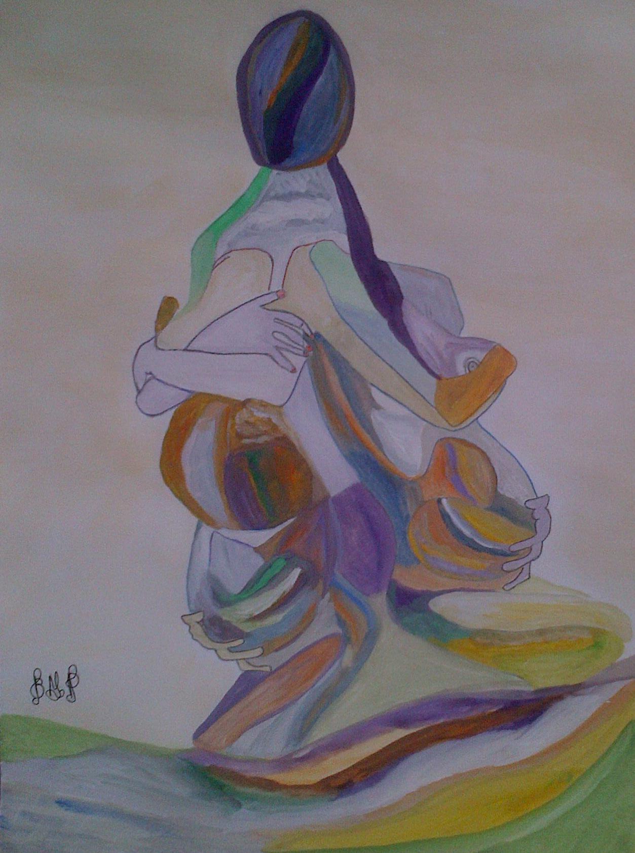 BD –Aquarelle n° 687 – Mère 3