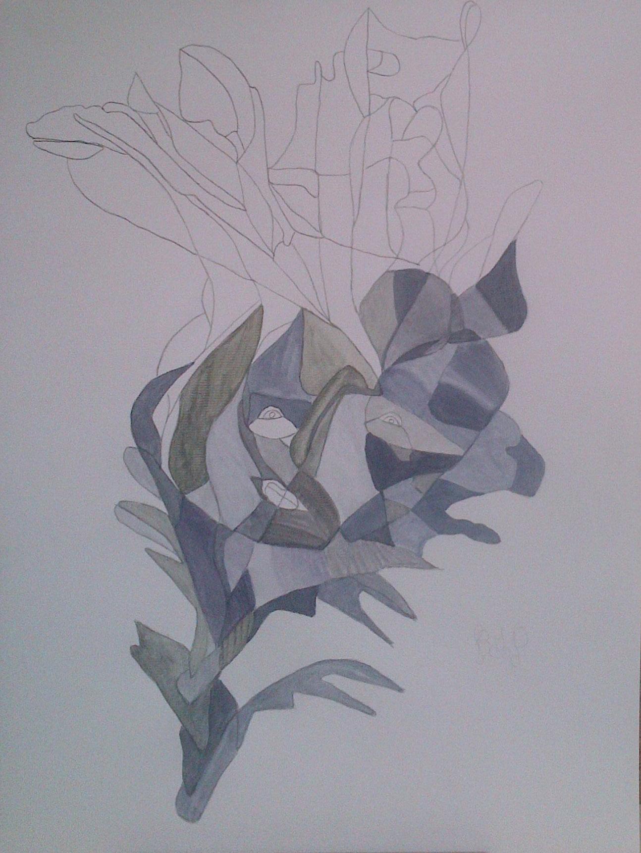 BG –Peinture n°207 – Dégradé bleuté 1