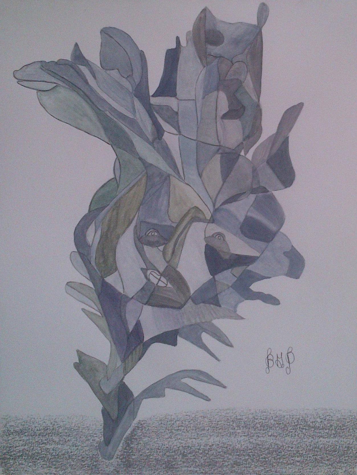 BG –Peinture n°208 – Dégradé bleuté 2
