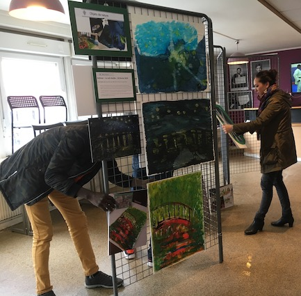 Suliman & Marilyne installent l'exposition