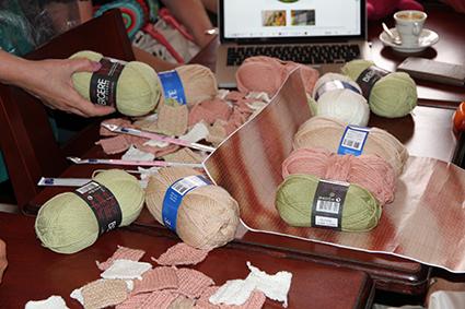 Le choix ateliers tricot-mosaïque