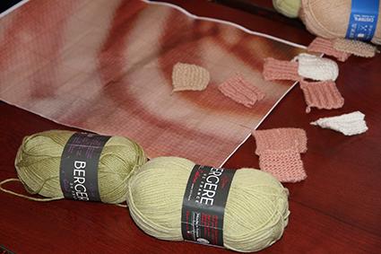 Petits carrés tricot-mosaïque
