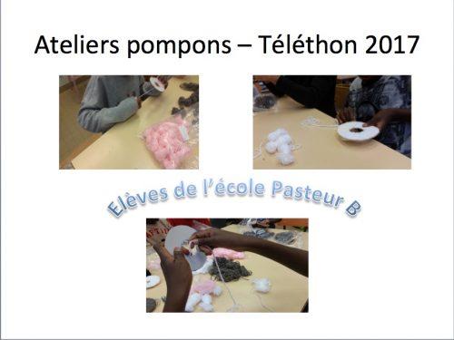 10 octobre 2017 – #Téléthon –Atelier enfants –Premiers animaux en pompons