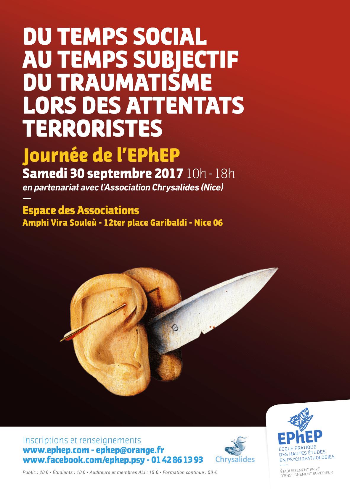 Conférence : Du temps social au temps subjectif du traumatisme lors des attentats terroristes