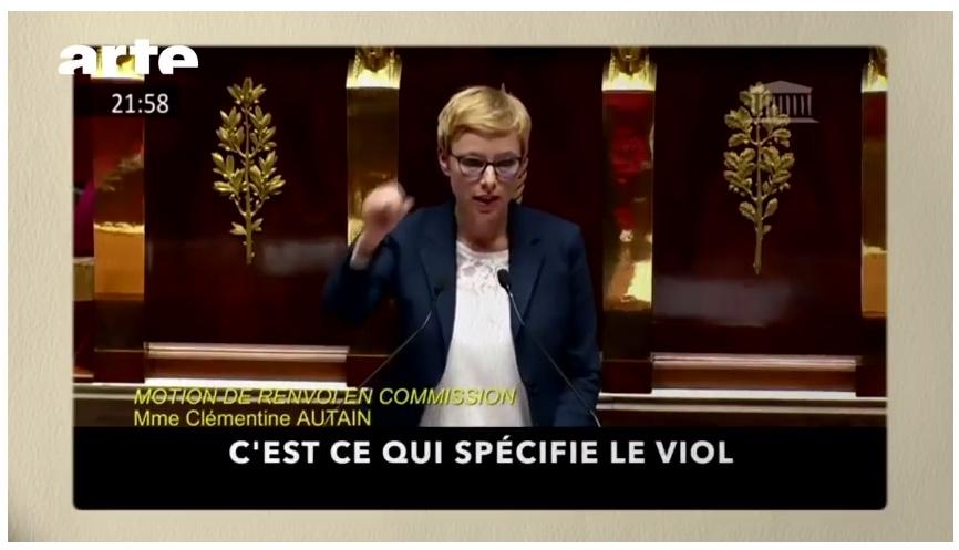 la députée insoumise Clémentine Autain