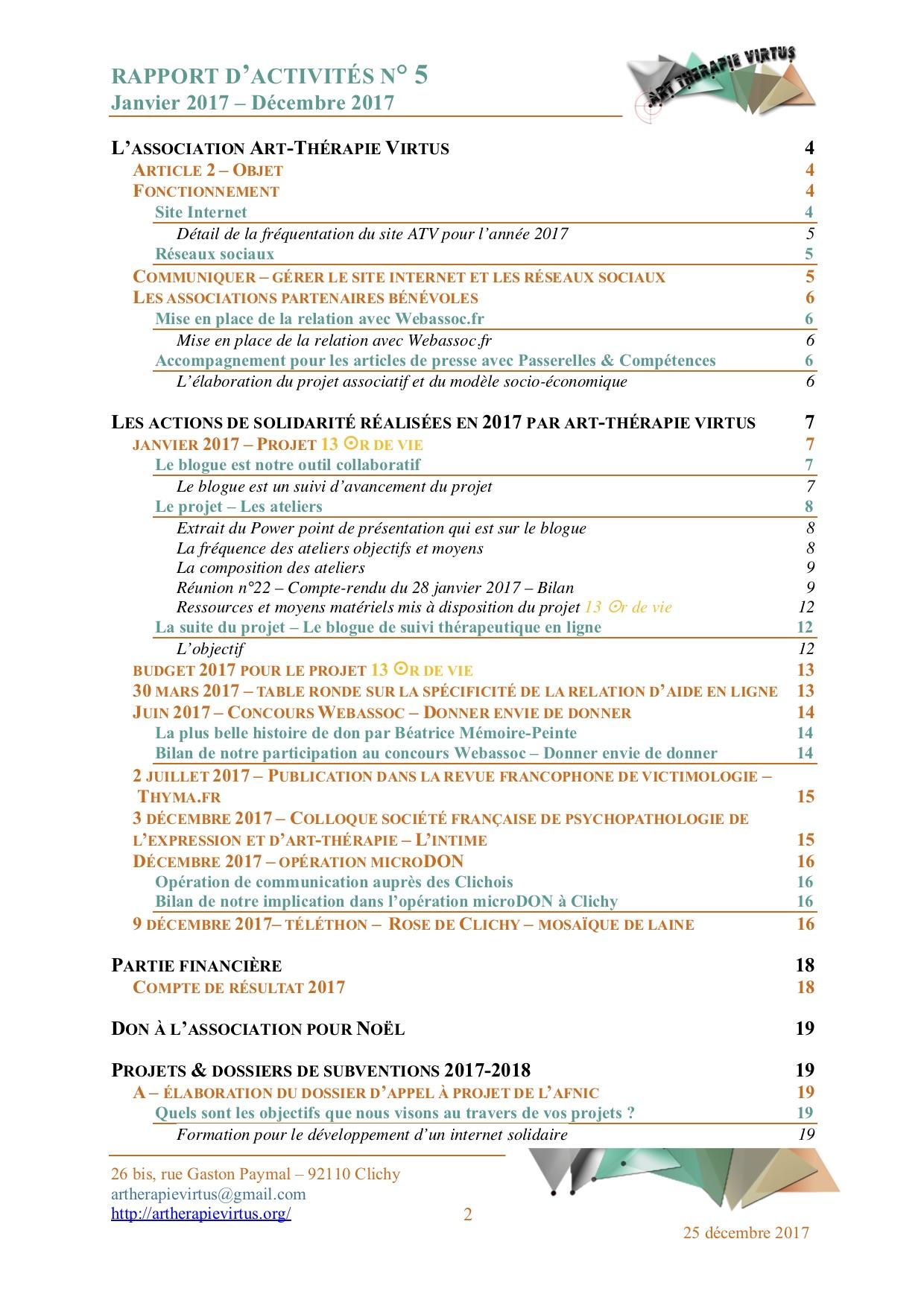 Tdm Rapport d'activités 2019 p.1