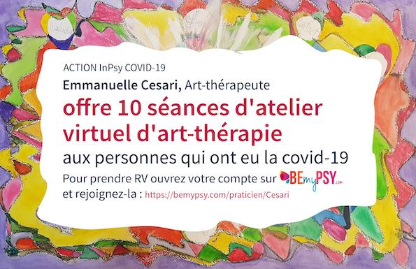 Atelier virtuel d'art-thérapie contre la peur de la Covid-19