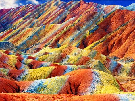 Les montagnes colorées en Chine