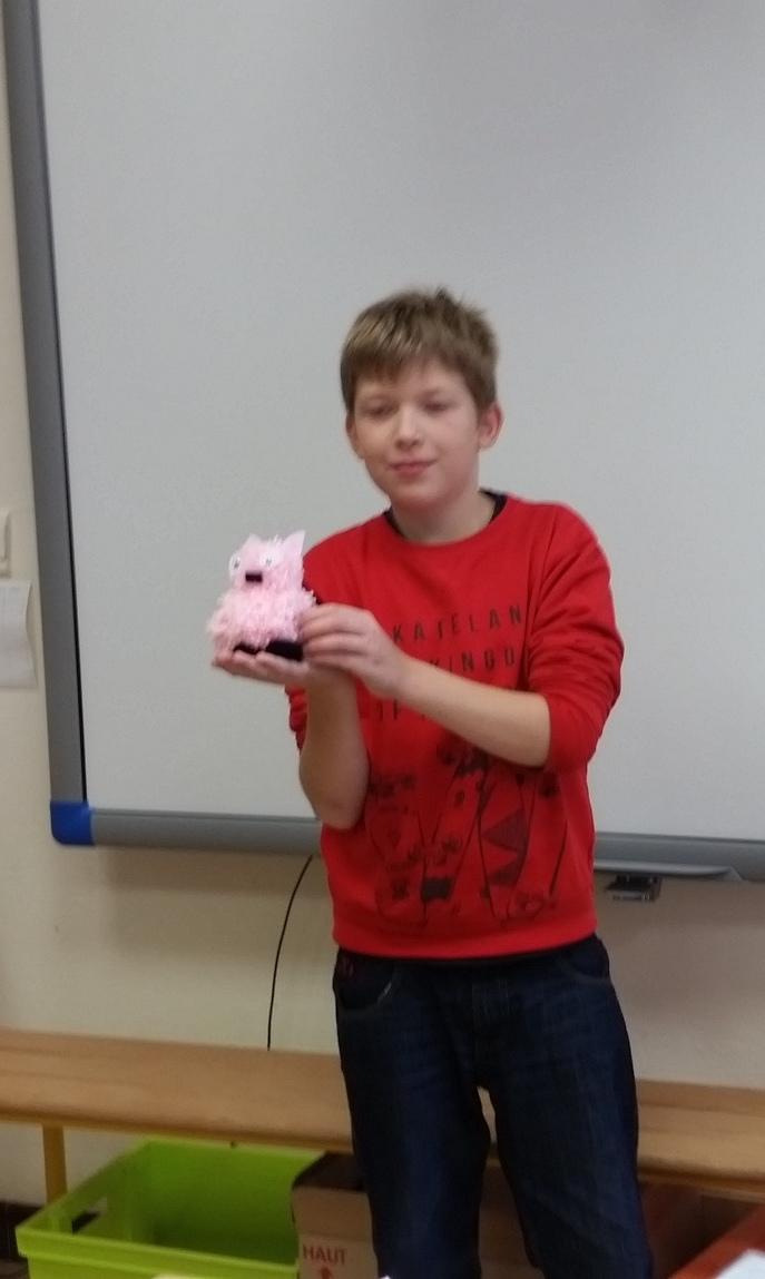 Sacha présente son cochon