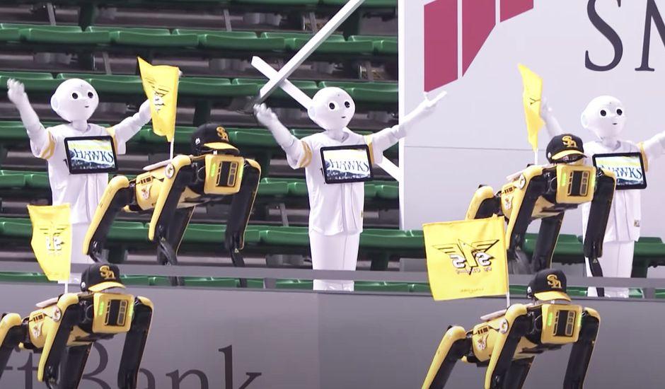 Au Japon, une armée de robots remplace les supporters dans les stades vides